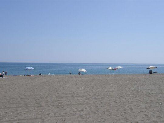 The beach at Torre del Mar